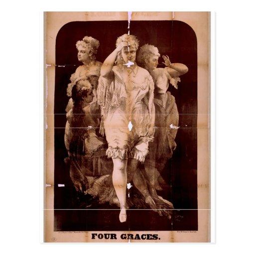 Teatro del vintage de cuatro tolerancias postal