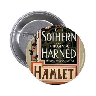 Teatro del vintage de Hamlet Pin Redondo 5 Cm