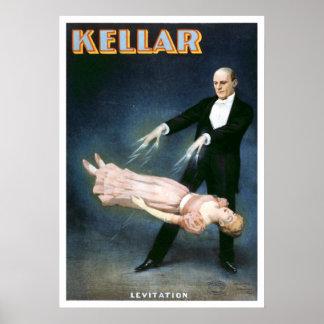 """""""Teatro del vintage de la levitación de Kellar"""" Posters"""