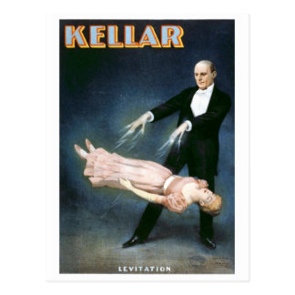 """""""Teatro del vintage de la levitación de Kellar"""" Postales"""