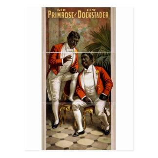 Teatro del vintage de Lew Dockstader de la primave Tarjetas Postales