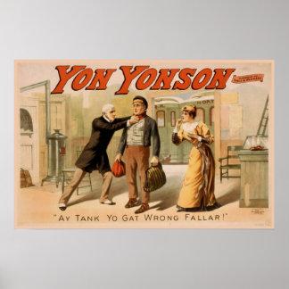 """Teatro del vintage de """"Yonson Yon"""" Poster"""