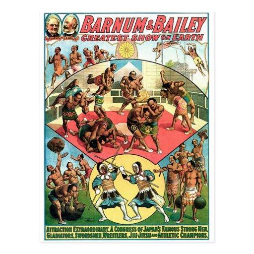 Teatro famoso del vintage de los hombres fuertes d tarjetas postales