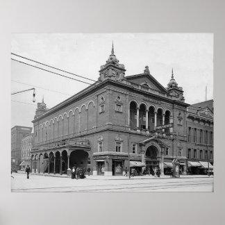 Teatro Indianapolis Indiana de 1902 parques Póster
