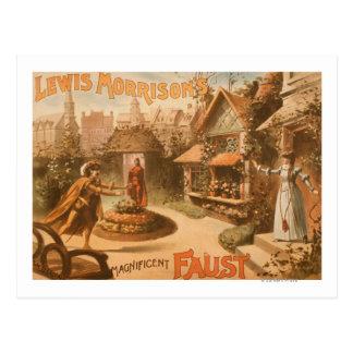 Teatro magnífico de Fausto de Lewis Morrison Postales