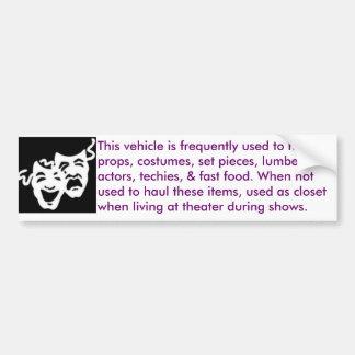 teatro-móvil pegatina de parachoque