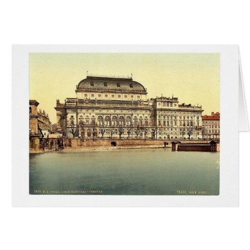 Teatro nacional, Praga, Bohemia, Austro-Hungría Tarjeta De Felicitación