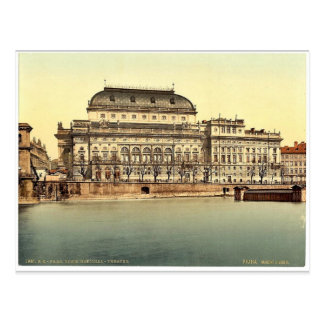 Teatro nacional, Praga, Bohemia, Austro-Hungría Tarjetas Postales