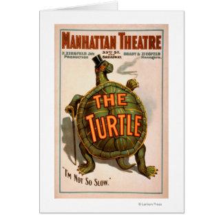 Teatro Nueva York Broadway de Manhattan la tortuga Tarjeta De Felicitación
