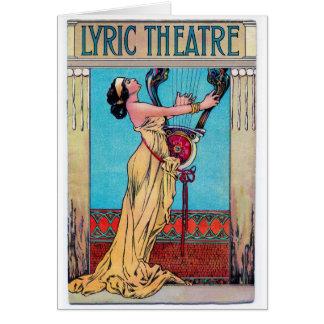 Teatro Playbill de la lírica 1906 Tarjeta De Felicitación