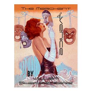 Teatro-Poster-Mirada Shakespeare del vintage de la Tarjeta Postal