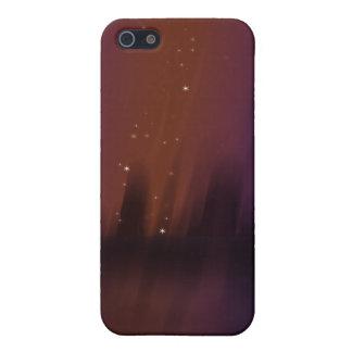 Teatro púrpura iPhone 5 carcasas