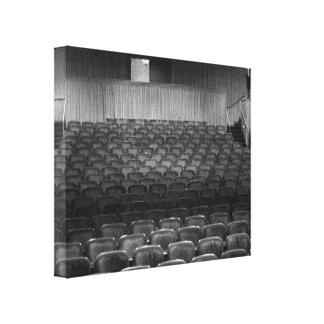 Teatro que asienta la foto blanca negra impresion de lienzo