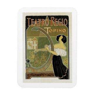 Teatro Regio Torino Rectangular Photo Magnet