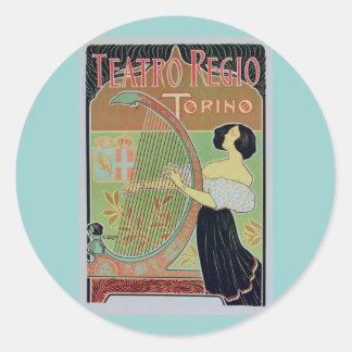 Teatro Regio Torino ( Royal Theater ) Round Stickers