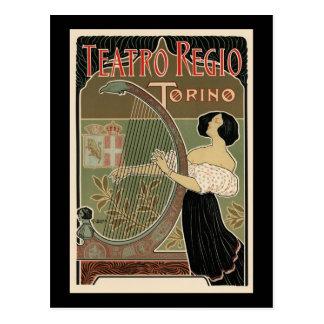 Teatro Regio Torino Tarjeta Postal