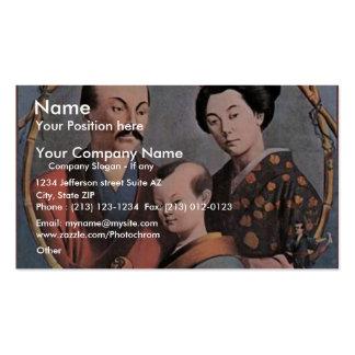 Teatro retro de la acrobacia japonesa real de la c tarjetas de visita