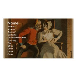 Teatro retro de la humanidad tarjetas personales