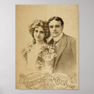 Teatro retro de Lorenzo B McGill del marinero de G Poster