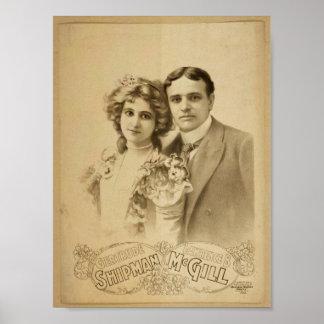 Teatro retro de Lorenzo B McGill del marinero de G Impresiones
