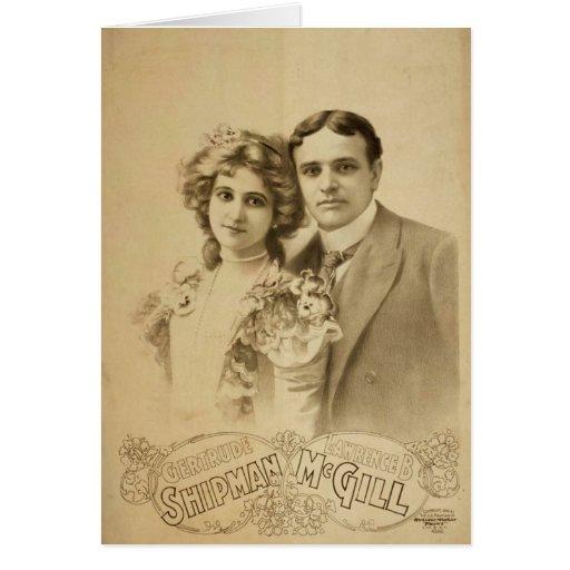Teatro retro de Lorenzo B McGill del marinero de G Tarjetas