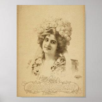 Teatro retro del marinero de Gertrudis Poster