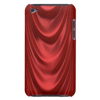 Teatro rojo temporario de las cortinas de la etapa Case-Mate iPod touch fundas