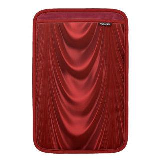 Teatro rojo temporario de las cortinas de la etapa fundas MacBook
