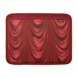 Teatro rojo temporario de las cortinas de la etapa fundas para macbook air