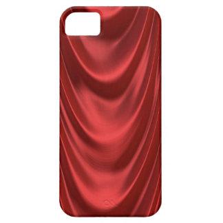 Teatro rojo temporario de las cortinas de la etapa iPhone 5 funda