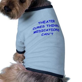 teatro camiseta con mangas para perro