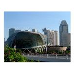 Teatro Singapur de la explanada Tarjeta Postal