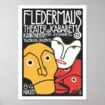 Teatro y cabaret del vintage poster