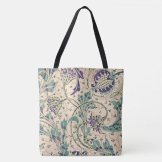 Teazle Flowering Plant Walter Crane Vintage Art Tote Bag