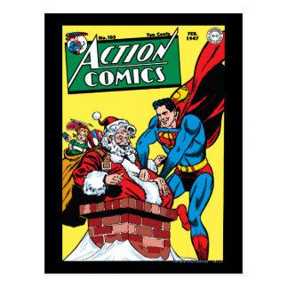 Tebeos de acción 105 tarjeta postal