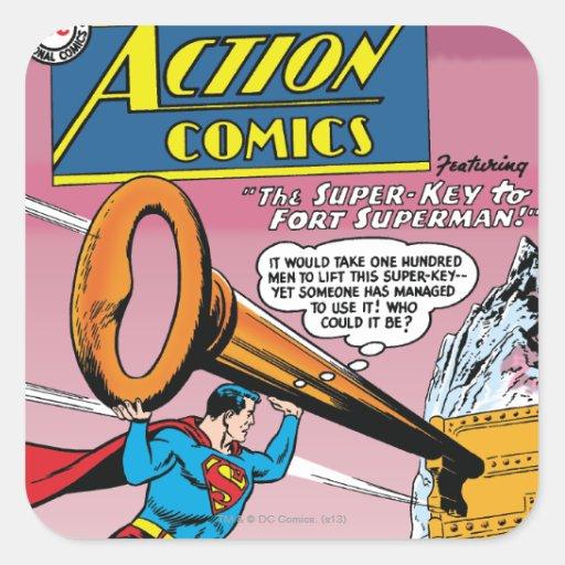 Tebeos de acción #241 pegatina cuadrada