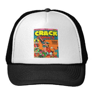 Tebeos de la grieta del cómic del vintage del kits gorras