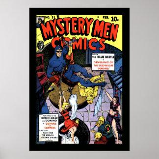 Tebeos de los hombres del misterio póster
