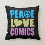 Tebeos del amor de la paz cojin