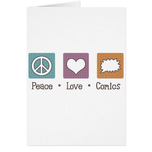 Tebeos del amor de la paz felicitacion
