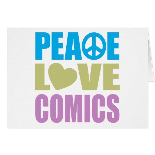 Tebeos del amor de la paz felicitaciones