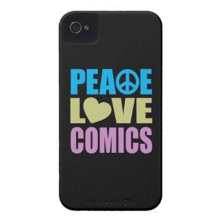 Tebeos del amor de la paz iPhone 4 Case-Mate carcasa
