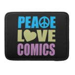 Tebeos del amor de la paz fundas para macbooks