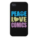 Tebeos del amor de la paz iPhone 4/4S fundas