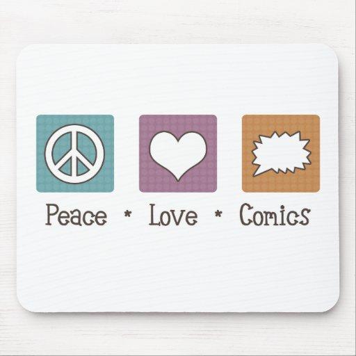 Tebeos del amor de la paz tapete de ratones