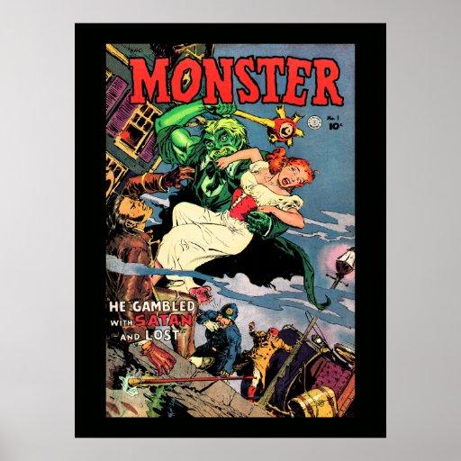 Tebeos del monstruo poster
