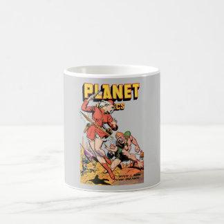 Tebeos del planeta - arte cómico del estilo clásic taza de café