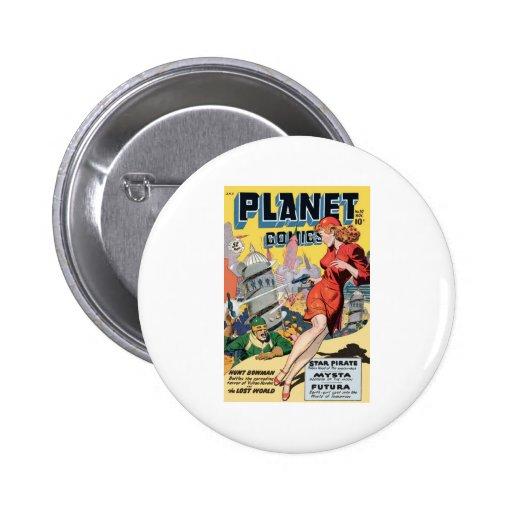 Tebeos del planeta pin redondo 5 cm