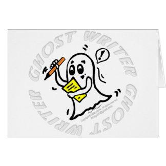 Tebeos divertidos del escritor de fantasma que tarjeta de felicitación