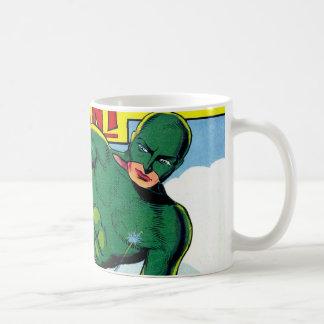 Tebeos gigantes verdes del vintage taza de café